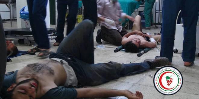 النظام السوري يقترف جرائم إبادة جماعية في سوريا من خلال ضرب دمشق وريفها بالسلاح الكيماوي